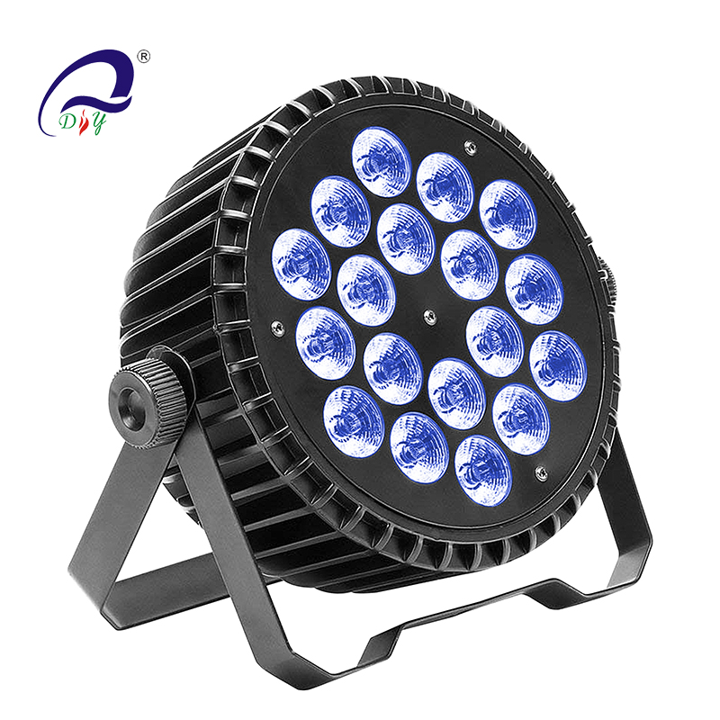 PL35 18PCS Silent Aluminum LED Wash Par ööklubi Light